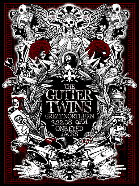 GUTTER TWINS collab with MAZZA